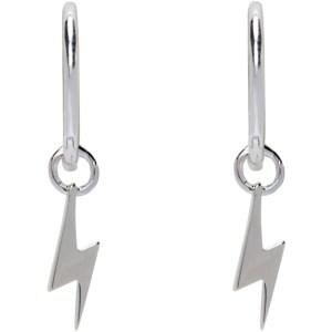 Stolen Girlfriends Club Silver Bolt Sleeper Earrings
