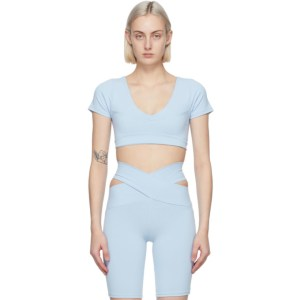 Live the Process Blue Crystal Short Sleeve Sport Top