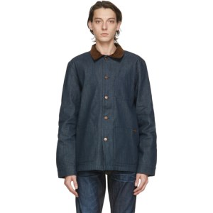Nudie Jeans Blue Denim Barney Horse Lining Jacket