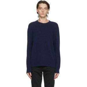 Nudie Jeans Blue Wool Hampus Sweater