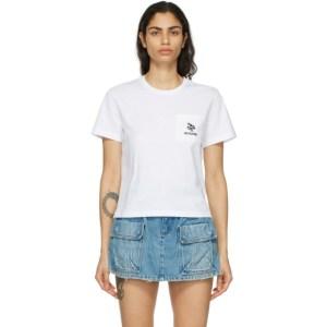 RED Valentino White Flower Pocket T-Shirt