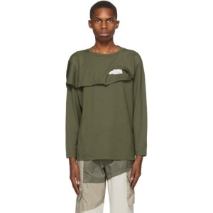 Feng Chen Wang Khaki 2-In-1 Long Sleeve T-Shirt