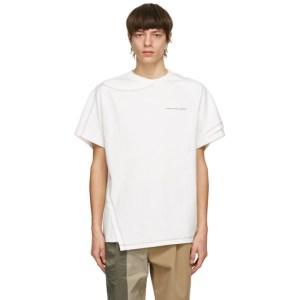 Feng Chen Wang White Cotton 2-In-1 T-Shirt