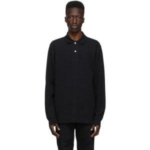 Norse Projects Black Ruben Long Sleeve Polo