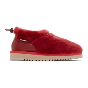 Aries Red Suicoke Edition Ron Loafers