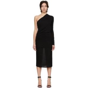 Helmut Lang Black One-Sleeve Dress