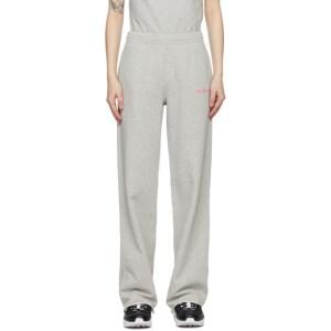 Helmut Lang Grey Wide-Leg Lounge Pants