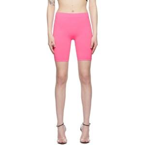 Helmut Lang Pink Jersey Bike Shorts