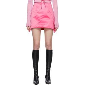 Helmut Lang Pink Satin Miniskirt