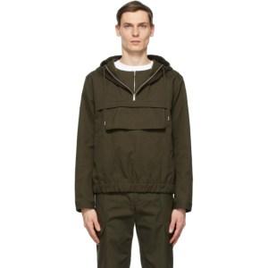 Helmut Lang Khaki Popover Zip Jacket