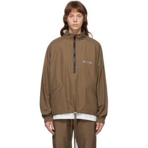 Essentials SSENSE Exclusive Brown Half-Zip Track Jacket