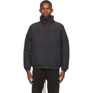 Essentials Black Nylon Puffer Jacket