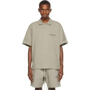 Essentials Khaki Short Sleeve Polo