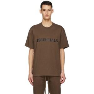 Essentials SSENSE Exclusive Brown Logo T-Shirt