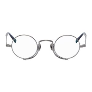 Matsuda Silver and Navy 10103H Glasses