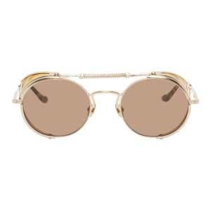 Matsuda Gold and Brown 2809H Terminator Sunglasses