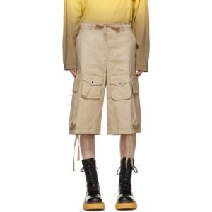 Moncler Genius 2 Moncler 1952 Beige Bermuda Shorts