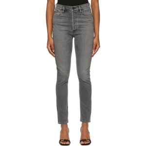 Goldsign Grey The High-Rise Slim Jeans