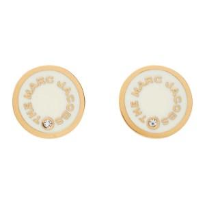 Marc Jacobs Off-White The Medallion Stud Earrings
