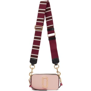 Marc Jacobs Pink and Burgundy The Snapshot Bag