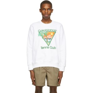Casablanca White Print Tennis Club Sweatshirt