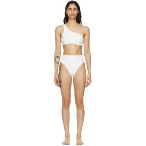 Haight SSENSE Exclusive White Crepe Perlin Bikini