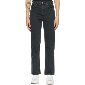 AGOLDE Black 90s Pinch Waist High-Rise Straight Jeans