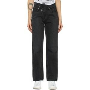 AGOLDE Black Criss Cross Upsized Jeans