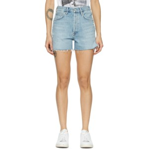 AGOLDE Blue Dee Super High-Rise Shorts