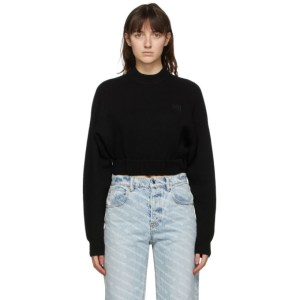 alexanderwang.t Black Wool Cropped Sweater