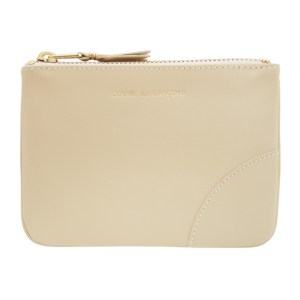 Comme des Garcons Wallets Off-White Small Classic Line Zip Pouch