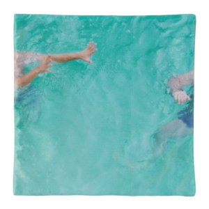 Serapis SSENSE Exclusive Blue Pool Gesture Print Pillow Case