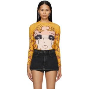 Pushbutton Yellow Goggles Girl Long Sleeve T-Shirt