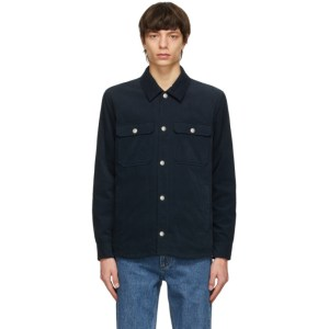 A.P.C. Navy Corduroy Alex Jacket