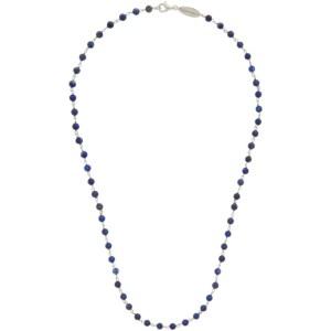 Giorgio Armani Blue and Silver Bead Necklace
