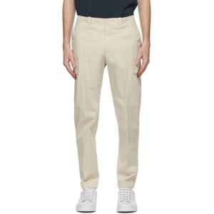Z Zegna Off-White Stretch Cotton Cargo Pants