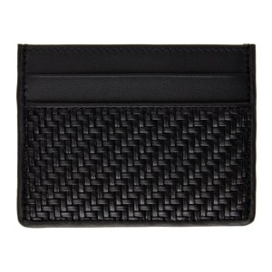 Ermenegildo Zegna Black Pelletessuta Simple Card Holder