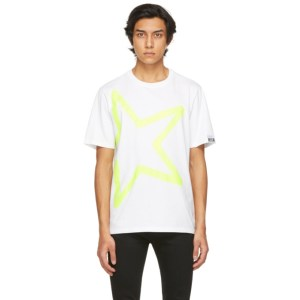 Golden Goose White Star Print Adamo T-Shirt