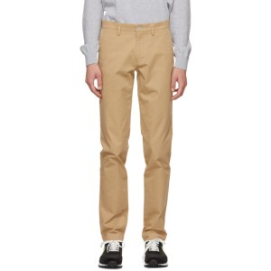 Lacoste Beige Gabardine Slim-Fit Chino Trousers