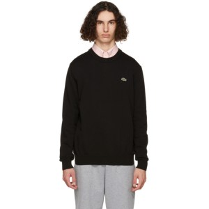 Lacoste Black Organic Cotton Sweatshirt