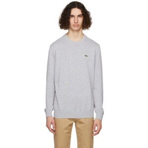 Lacoste Grey Organic Cotton Sweatshirt
