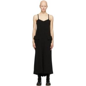 Regulation Yohji Yamamoto Black Satin Cami Jumpsuit