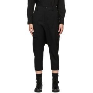 Regulation Yohji Yamamoto Black Slim Cargo Sarouel Trousers