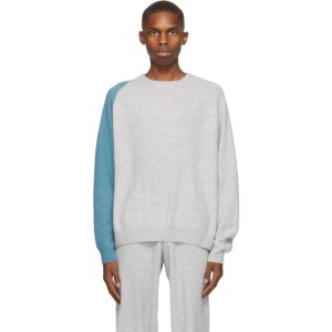 Frenckenberger Grey and Blue R-Neck Sweater