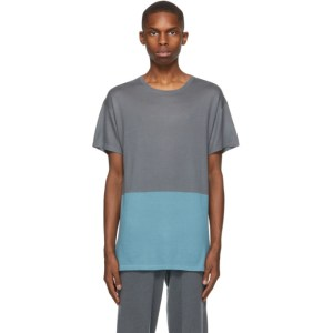 Frenckenberger SSENSE Exclusive Grey and Blue Bicolor T-Shirt
