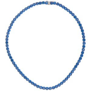 Mounser Blue Laguna Rhinestone Necklace