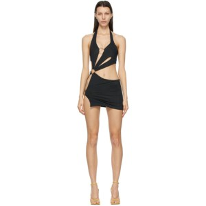 Louisa Ballou Black Sex Wax Dress