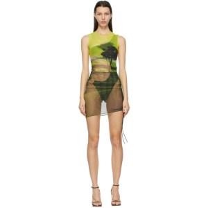 Louisa Ballou Multicolor Heatwave Ruched Dress