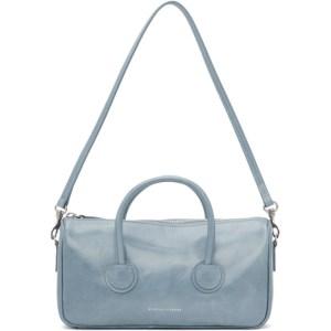 Marge Sherwood Blue Crinkled Small Zipper Bag