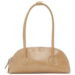 Marge Sherwood Beige Crinkled Bassette Bag